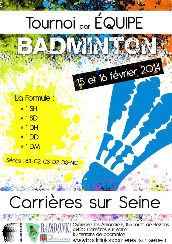 Badminton : Tournoi par équipes